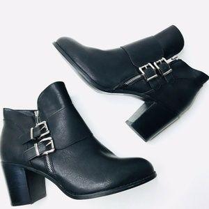 NEW TORRID Vegan Leather Chunky Heel Buckle Boots